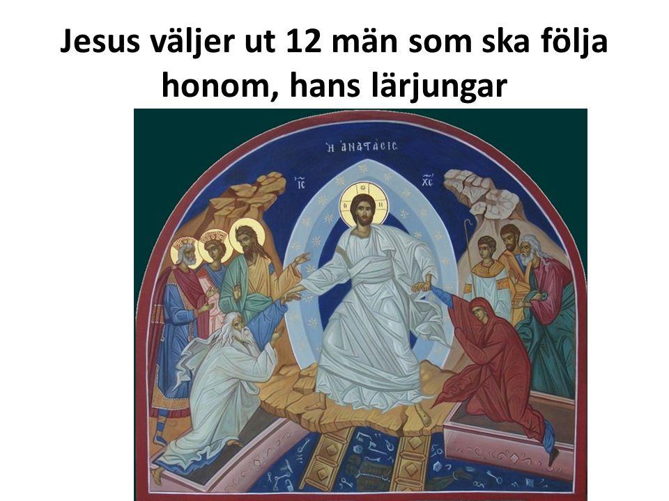 Jesus väljer ut 12 män som ska följa honom, hans lärjungar