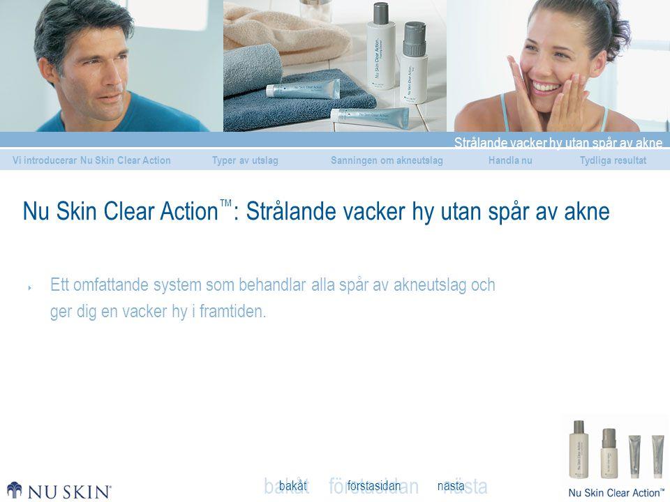 Nu Skin Clear Action™: Strålande vacker hy utan spår av akne