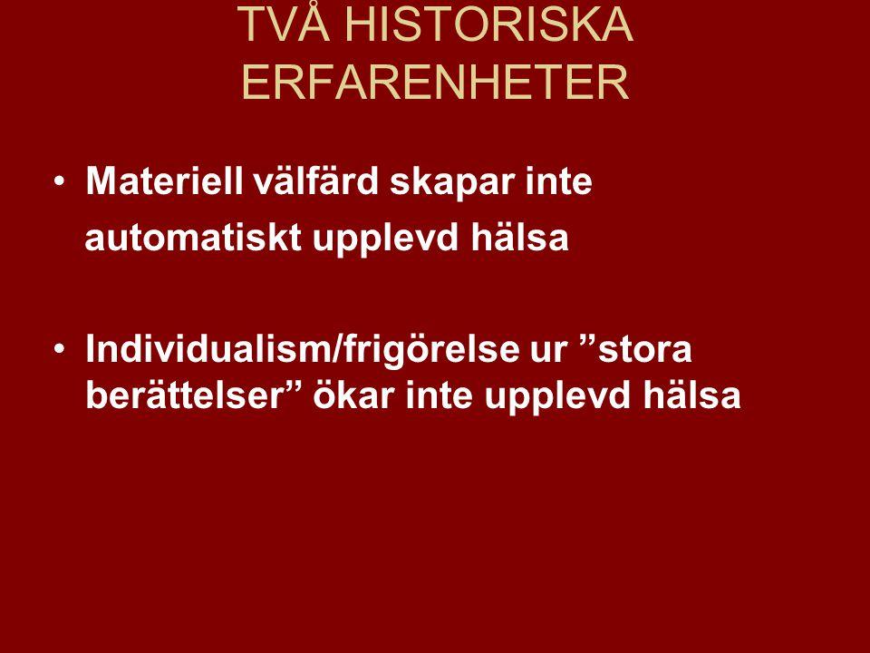 TVÅ HISTORISKA ERFARENHETER