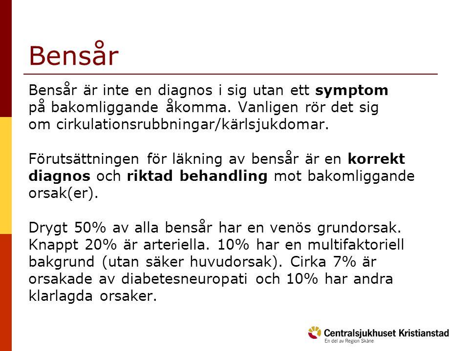 Bensår Bensår är inte en diagnos i sig utan ett symptom