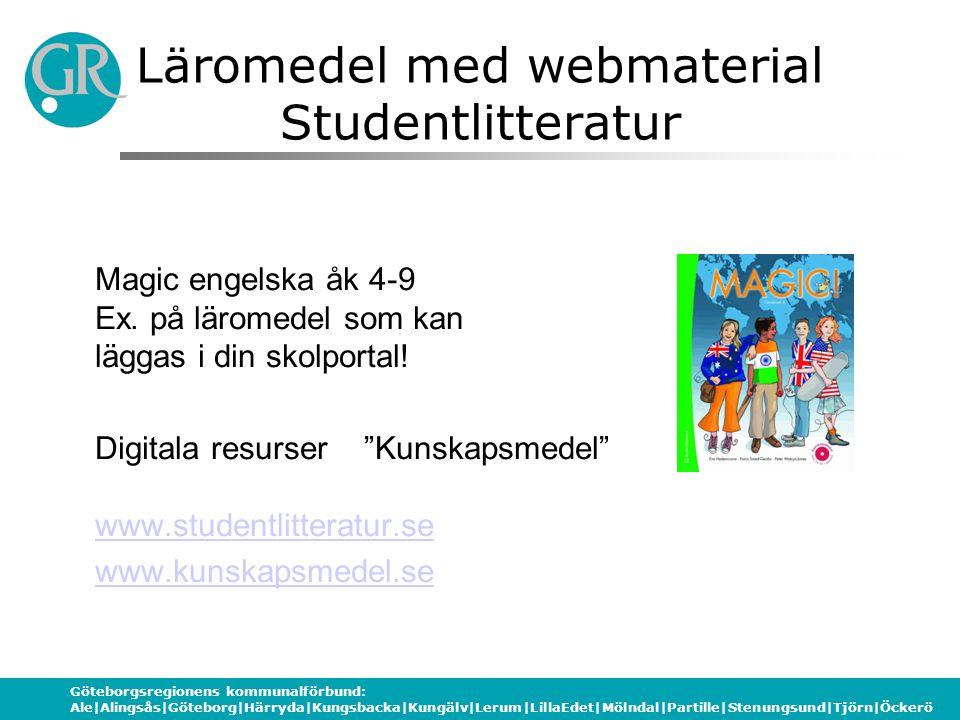 Läromedel med webmaterial Studentlitteratur