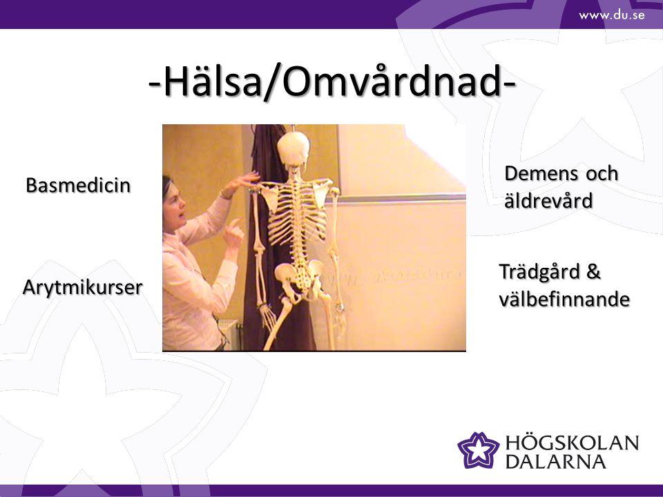 -Hälsa/Omvårdnad- Demens och Basmedicin äldrevård Trädgård &