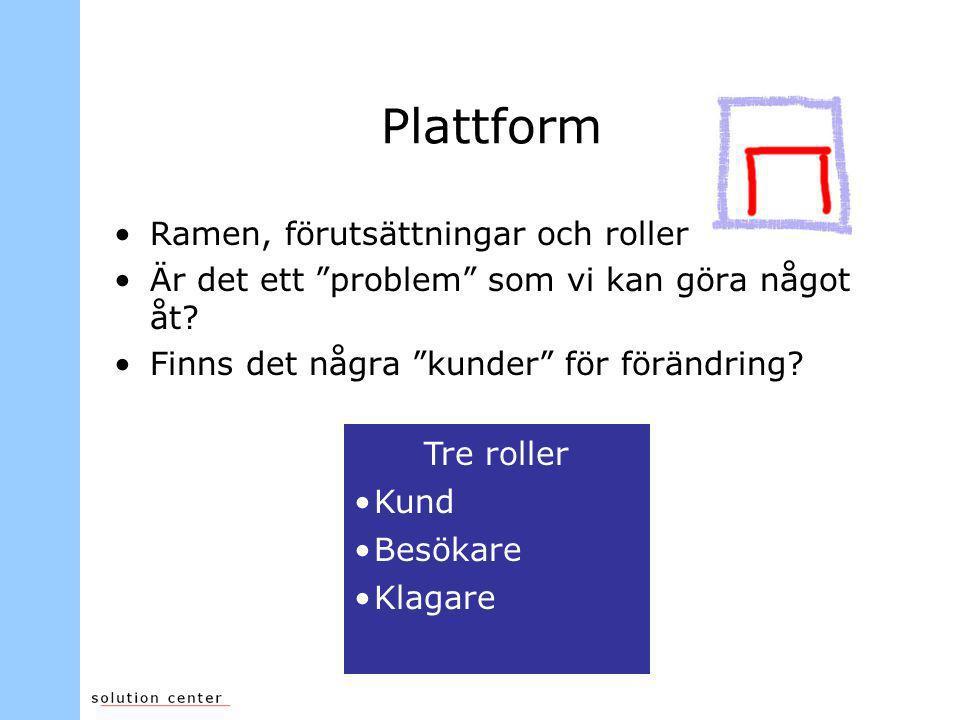 Plattform Ramen, förutsättningar och roller