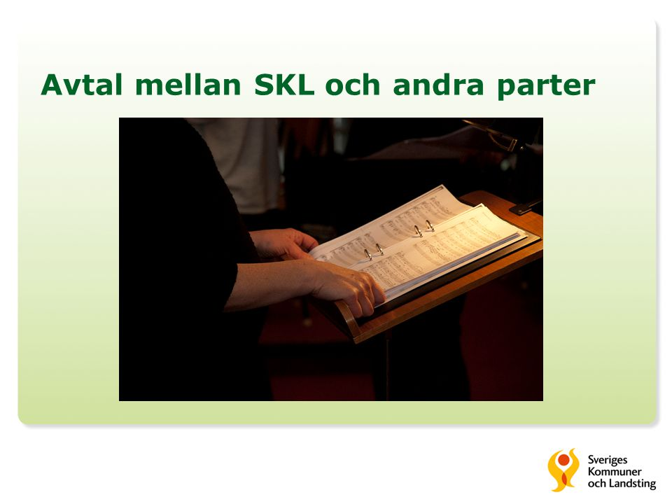 Avtal mellan SKL och andra parter