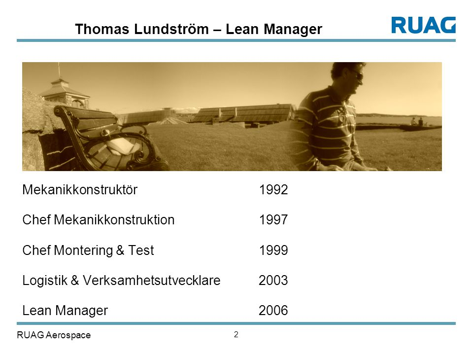 Thomas Lundström – Lean Manager