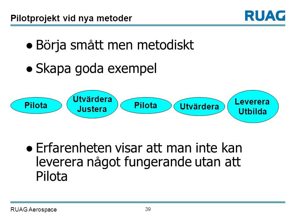 Pilotprojekt vid nya metoder
