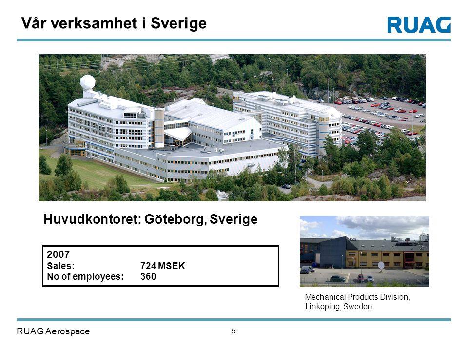 Vår verksamhet i Sverige