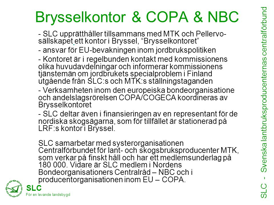 Brysselkontor & COPA & NBC