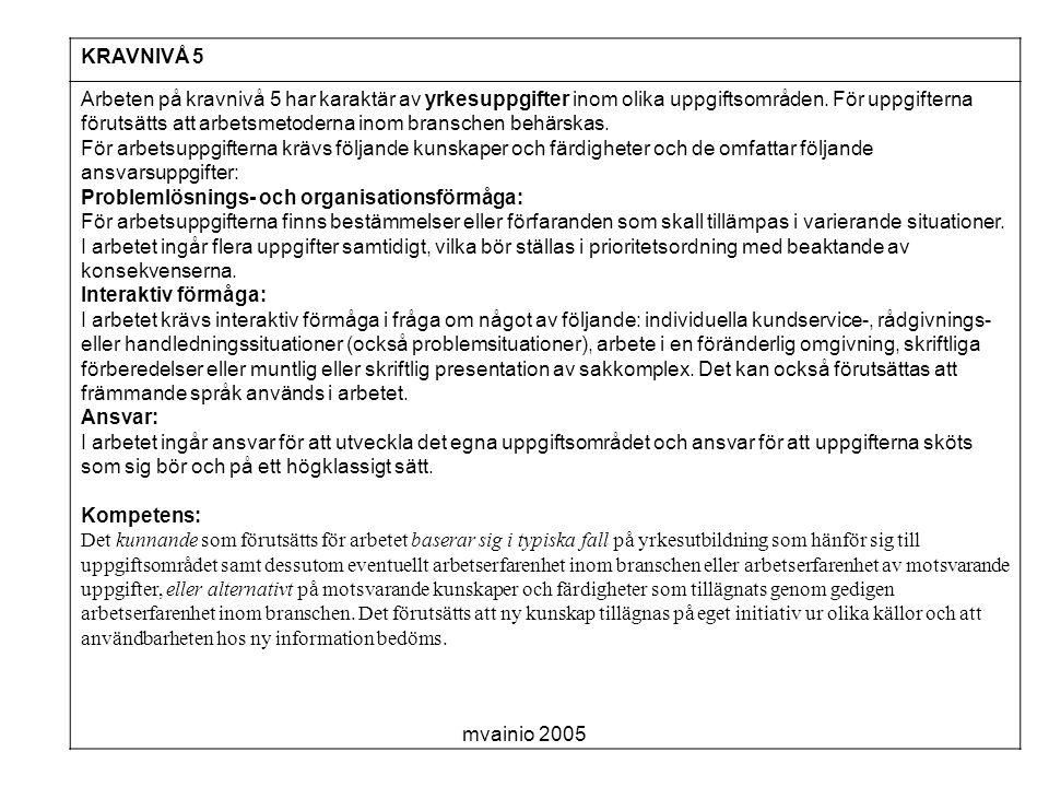 KRAVNIVÅ 5