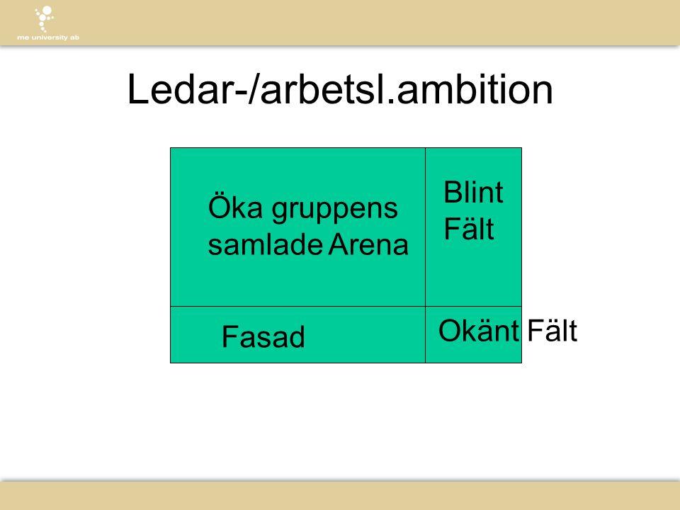 Ledar-/arbetsl.ambition