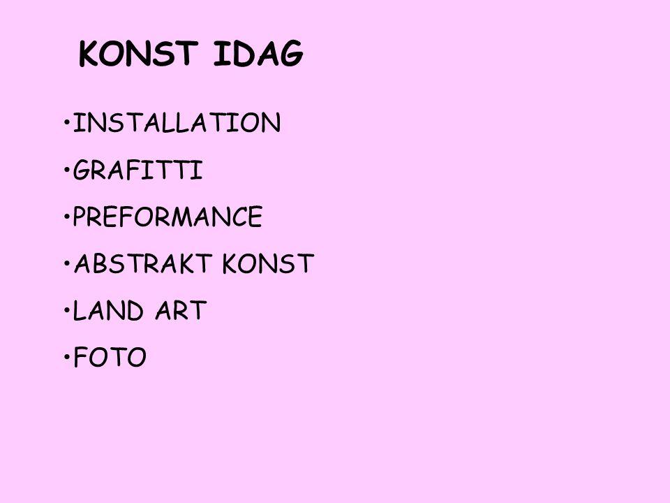 KONST IDAG INSTALLATION GRAFITTI PREFORMANCE ABSTRAKT KONST LAND ART