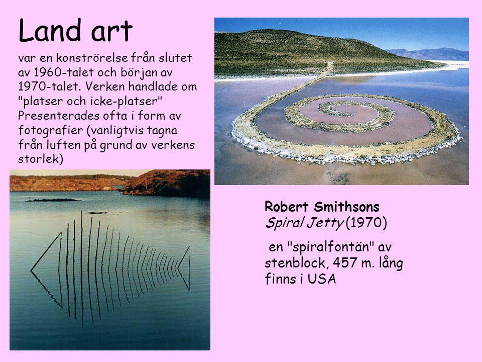Land art Robert Smithsons Spiral Jetty (1970)