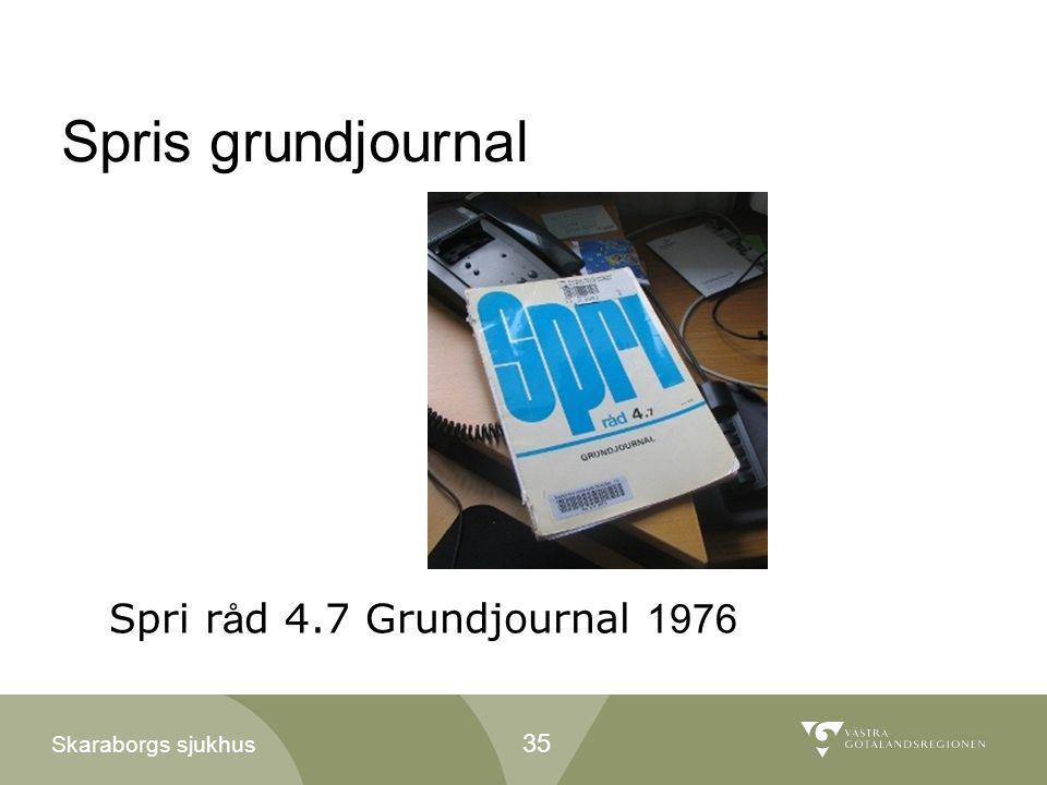 Spris grundjournal Spri råd 4.7 Grundjournal 1976 35