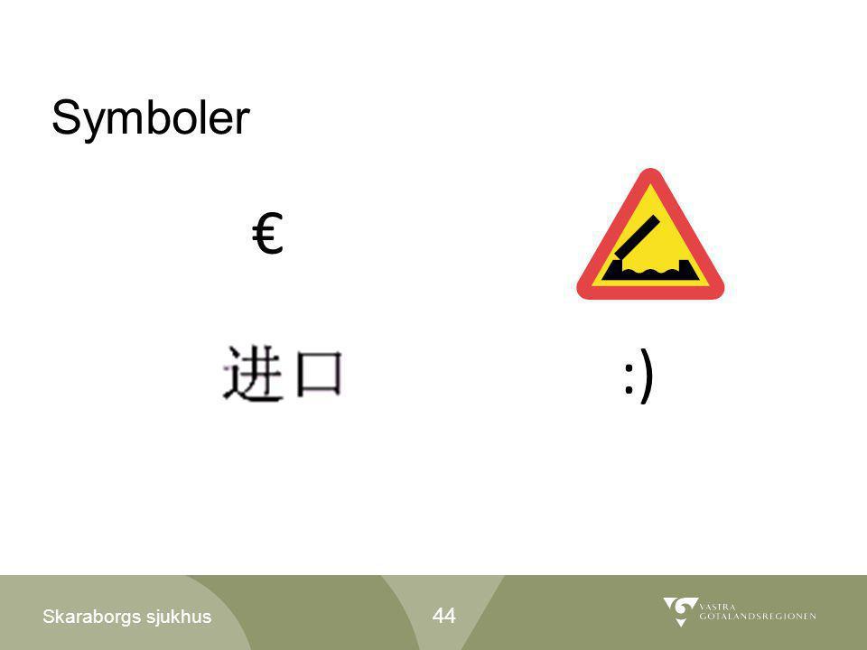 Symboler € :)