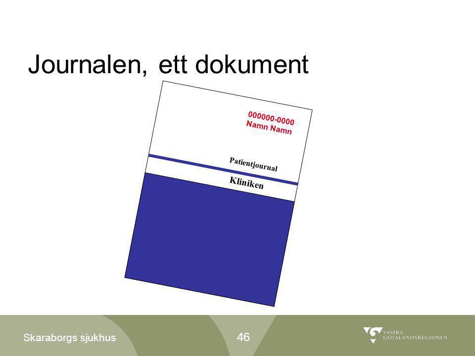 Journalen, ett dokument