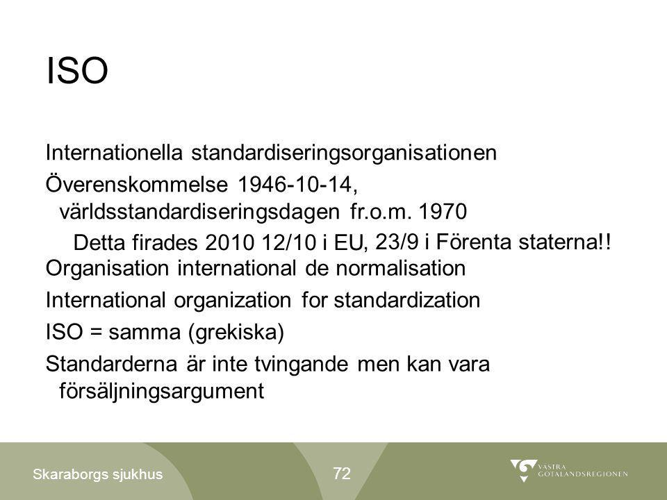 ISO Internationella standardiseringsorganisationen