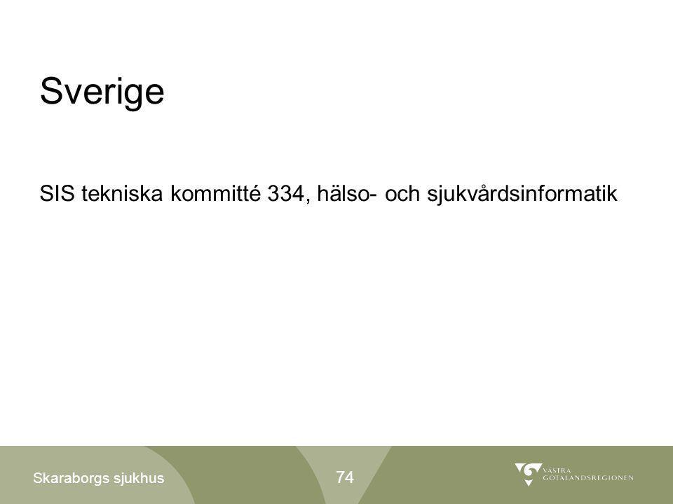 Sverige SIS tekniska kommitté 334, hälso- och sjukvårdsinformatik 74