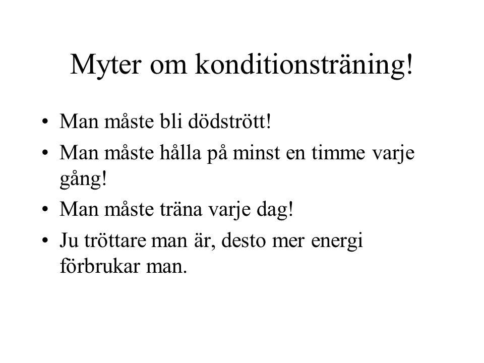 Myter om konditionsträning!