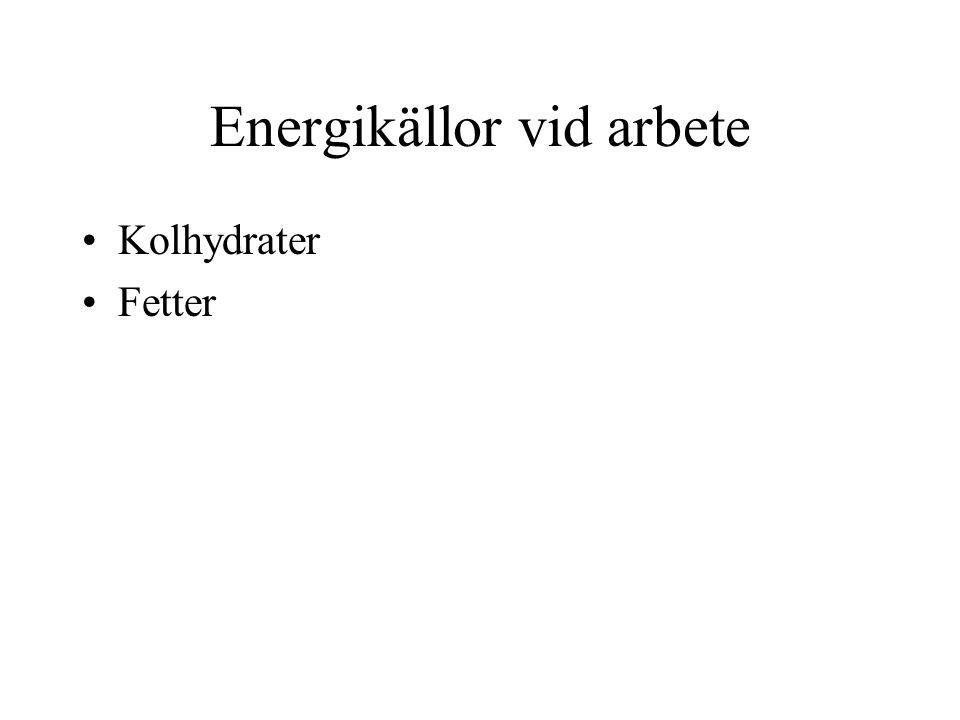Energikällor vid arbete