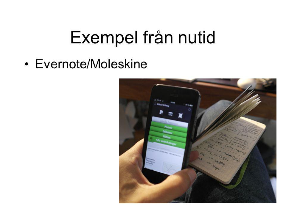 Exempel från nutid Evernote/Moleskine
