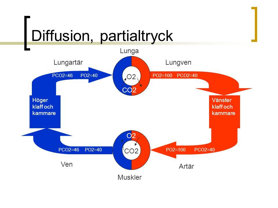 Diffusion, partialtryck