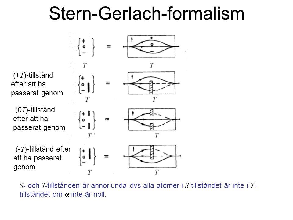 Stern-Gerlach-formalism