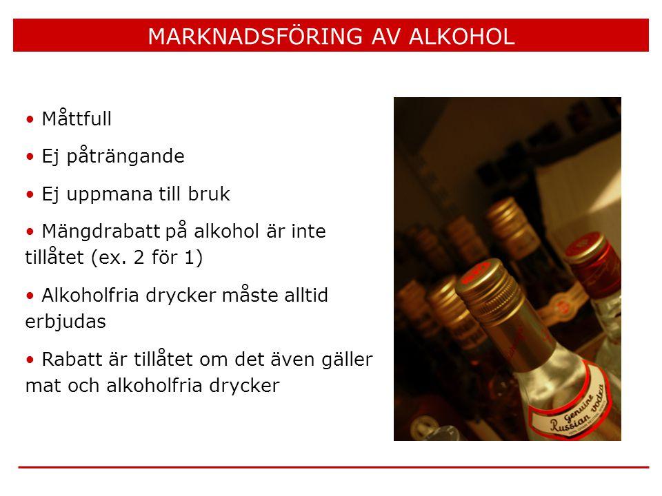 MARKNADSFÖRING AV ALKOHOL