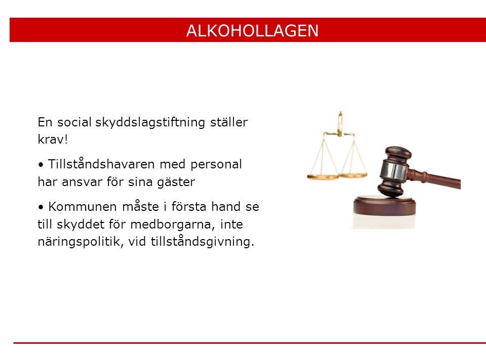 ALKOHOLLAGEN En social skyddslagstiftning ställer krav!