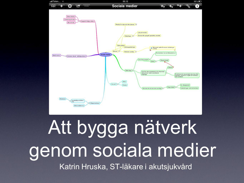 Att bygga nätverk genom sociala medier