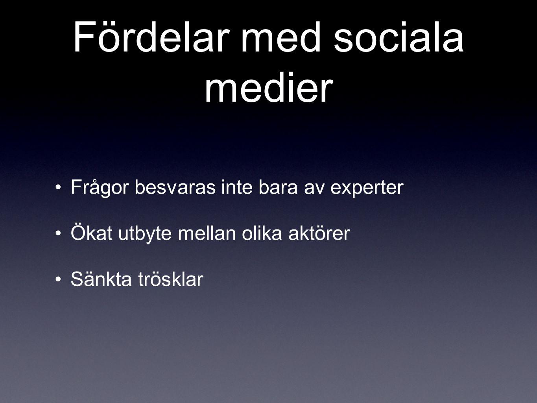Fördelar med sociala medier