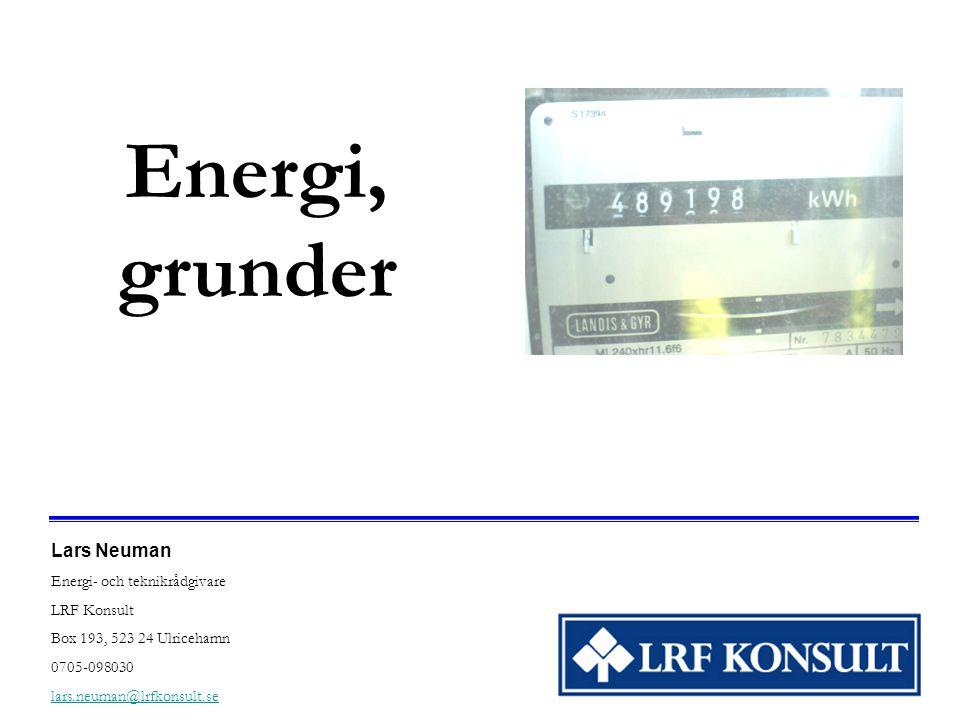 Energi, grunder Lars Neuman Energi- och teknikrådgivare LRF Konsult