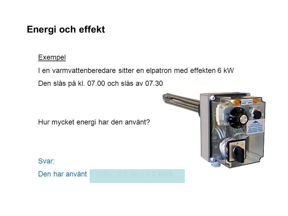 Energi och effekt Exempel