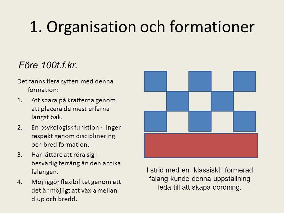 1. Organisation och formationer