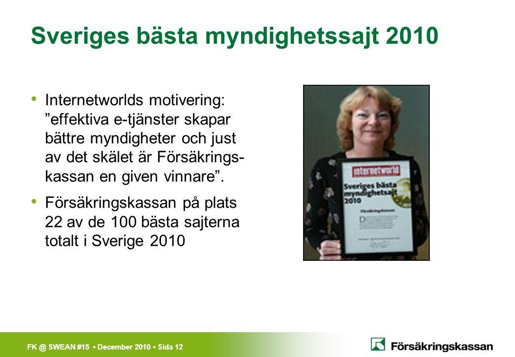 Sveriges bästa myndighetssajt 2010
