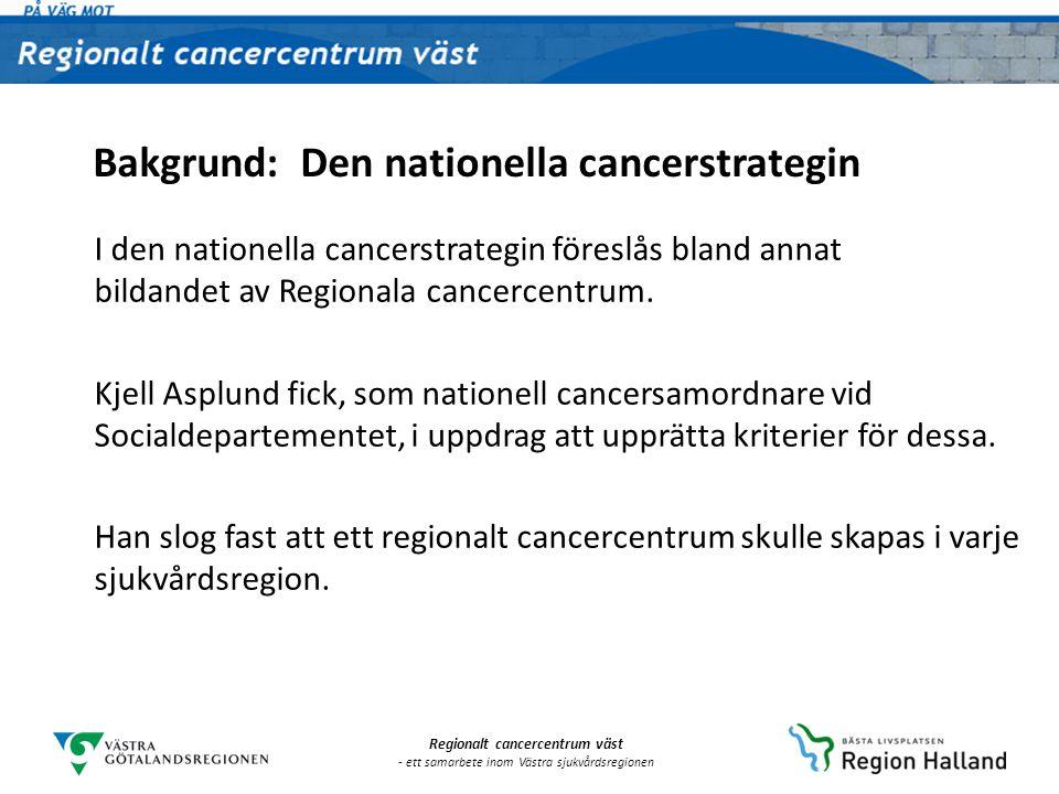 Bakgrund: Den nationella cancerstrategin