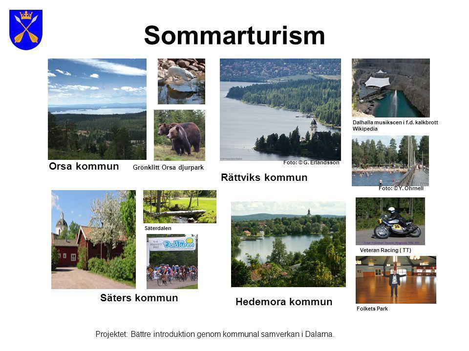 Sommarturism Orsa kommun Rättviks kommun Säters kommun Hedemora kommun