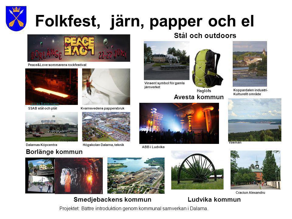 Folkfest, järn, papper och el