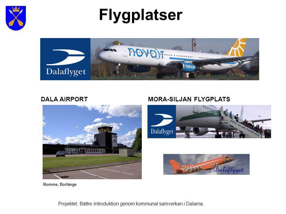 Flygplatser DALA AIRPORT MORA-SILJAN FLYGPLATS