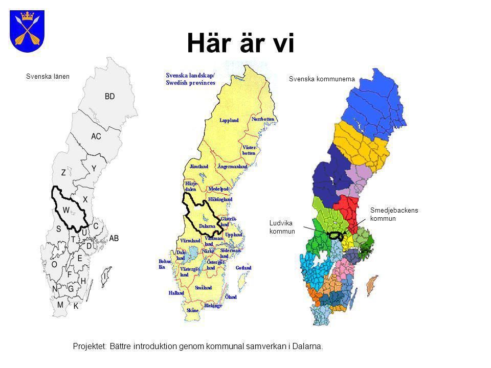Här är vi Svenska länen. Svenska kommunerna. Smedjebackens. kommun. Ludvika. kommun.