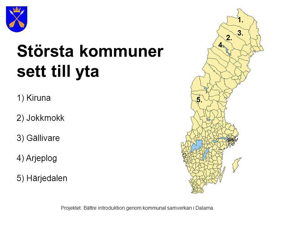 Projektet: Bättre introduktion genom kommunal samverkan i Dalarna.