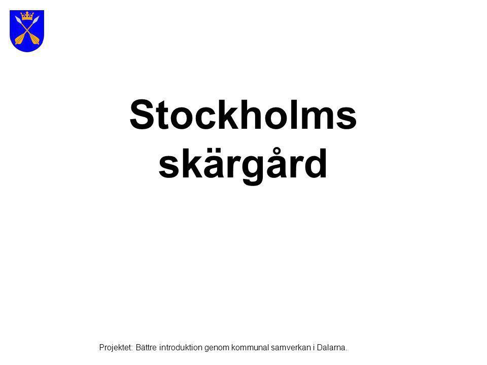 Stockholms skärgård Projektet: Bättre introduktion genom kommunal samverkan i Dalarna.