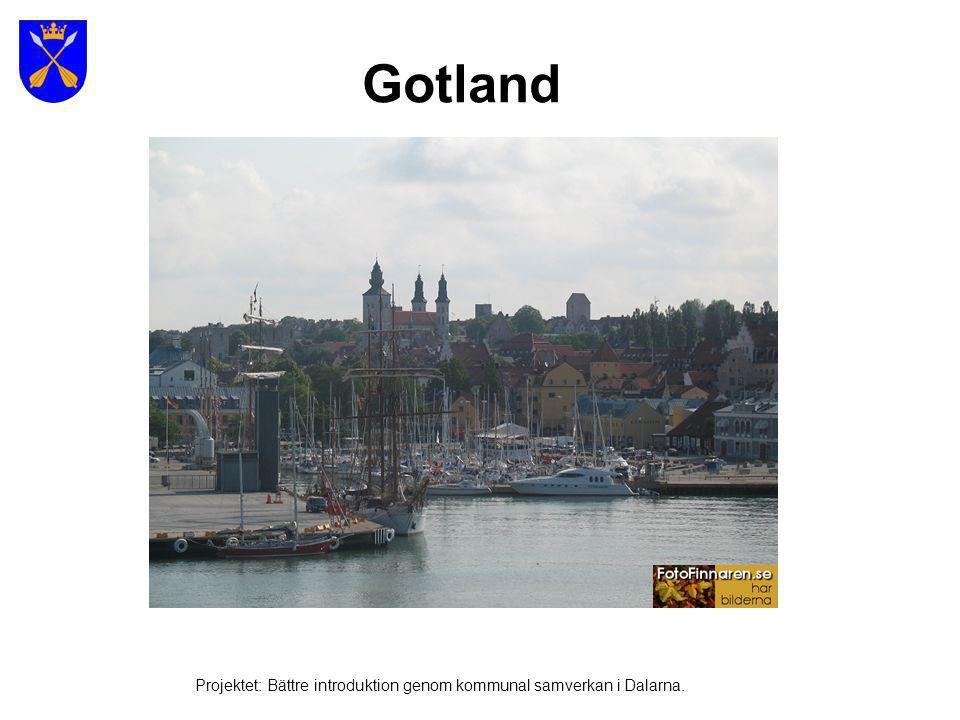 Gotland Projektet: Bättre introduktion genom kommunal samverkan i Dalarna.