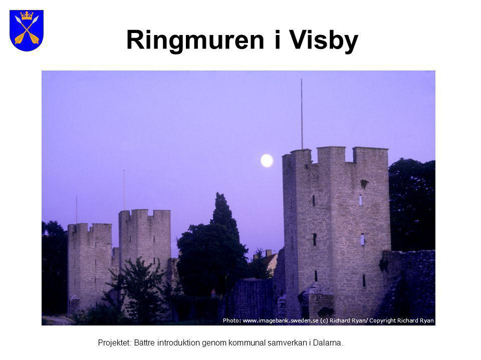 Ringmuren i Visby Photo: www.imagebank.sweden.se (c) Richard Ryan/ Copyright Richard Ryan.