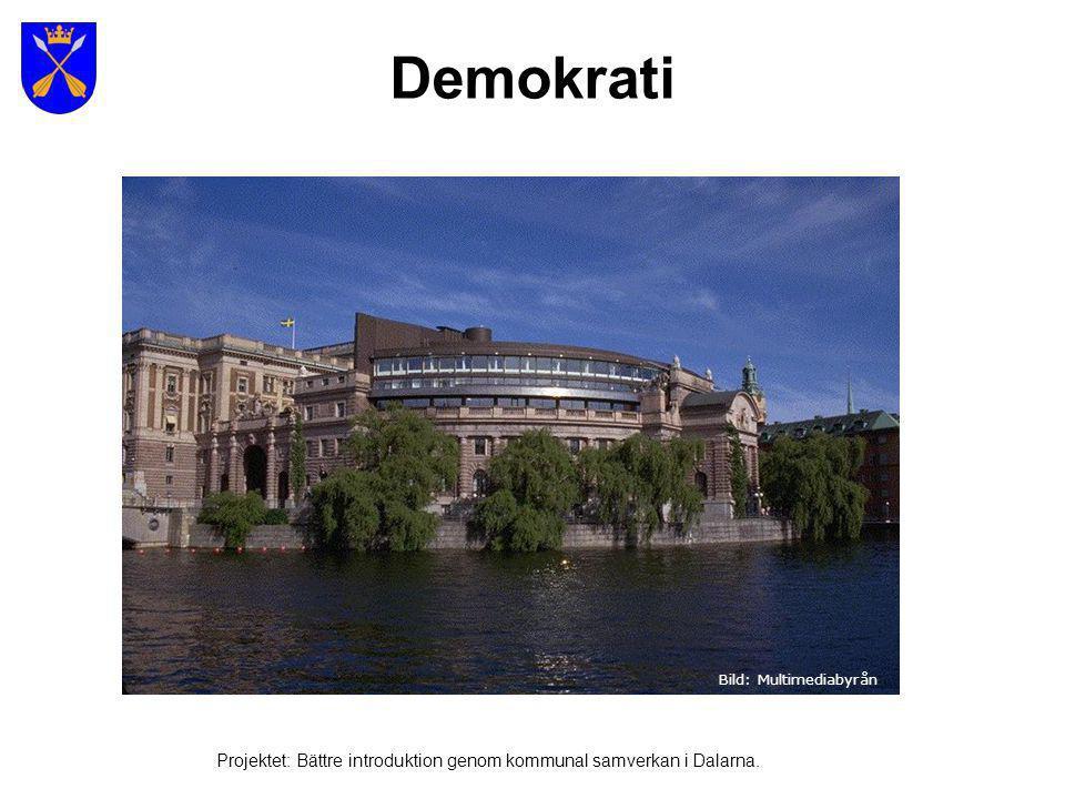 Demokrati Bild: Multimediabyrån Projektet: Bättre introduktion genom kommunal samverkan i Dalarna.