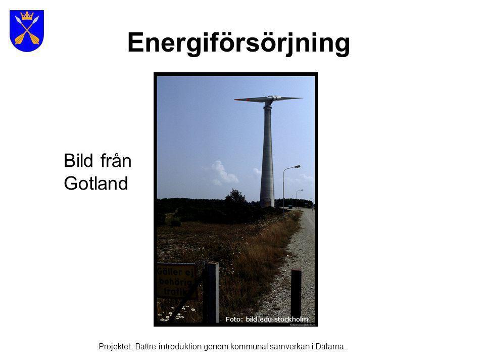 Energiförsörjning Bild från Gotland