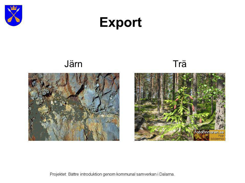 Export Järn Trä Projektet: Bättre introduktion genom kommunal samverkan i Dalarna.