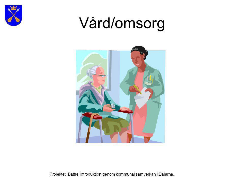 Vård/omsorg Projektet: Bättre introduktion genom kommunal samverkan i Dalarna.