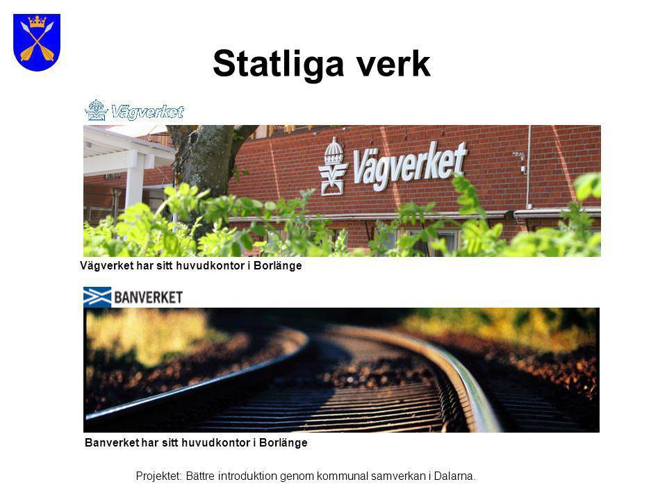 Statliga verk Vägverket har sitt huvudkontor i Borlänge