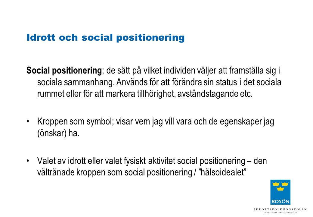 Idrott och social positionering