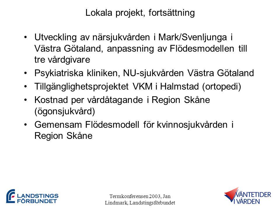 Lokala projekt, fortsättning